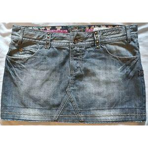 Billabong Denim Low Rise Skirt